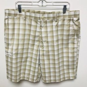 NEW Grand Slam Plaid Golf Shorts 38
